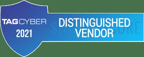 TAG Cyber Distinguished Vendor 2021 badge