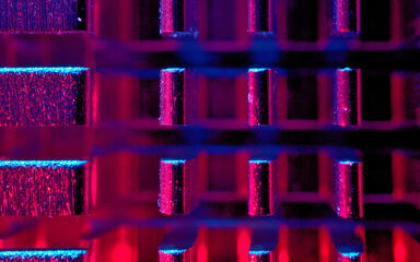 Abstract view of a CPU heatsink