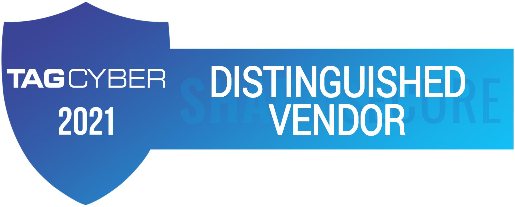 TAG Cyber Distinguished Vendor 2021